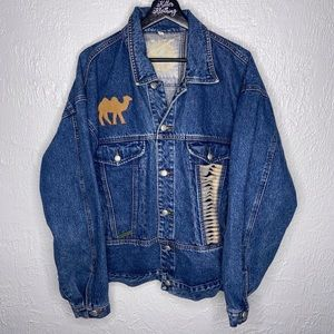 Vintage L.A. Gear Camel Denim Jean Jacket